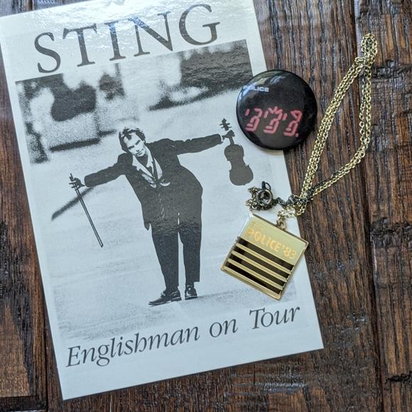 Vintage 80's Sting and The Police Fan Memorabilia